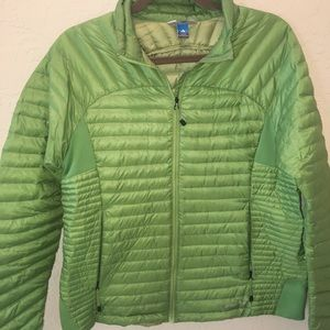 Eddie Bauer Stormdown packable Green Jacket lg